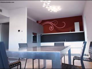 casa privata di tiziano colombo Moderno