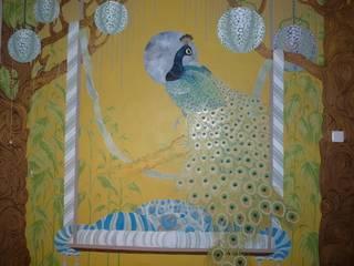 Peacock Garden Eclectic style bedroom by Diane Marsland Art, Design & Interiors Eclectic