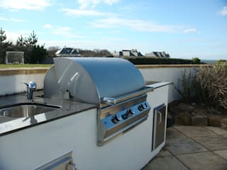 Outdoor Kitchens and BBQ Areas Modern style gardens by Design Outdoors Limited Modern