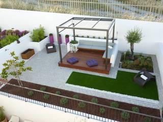 Minimalistischer Balkon, Veranda & Terrasse von Ángel Méndez, Arquitectura y Paisajismo Minimalistisch