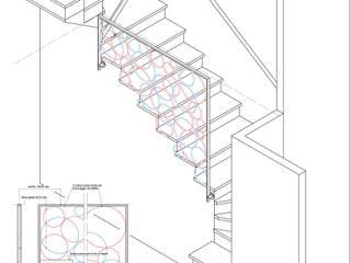 Scala cerchiata Ingresso, Corridoio & Scale in stile moderno di Bianca Coggi Architetto Moderno