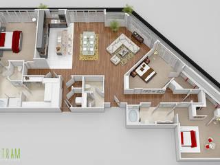 3D Floor Plan CGI Design de Yantram Architectural Design Studio