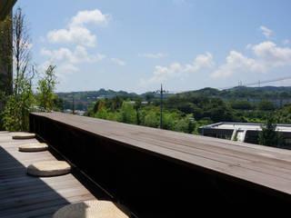 松岡淳建築設計事務所 Taman Modern Kayu Wood effect