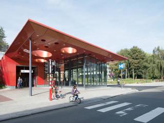 Station de métro Roi Baudouin_ Bruxelles Espaces commerciaux modernes par GS3 Architectes Associés scrl Moderne