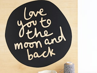 'Moon and Back' Wall Sticker:   by Kutuu