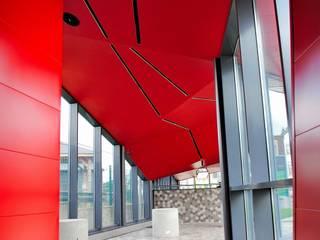 Station de métro Céria-Coovi_ Bruxelles Espaces commerciaux modernes par GS3 Architectes Associés scrl Moderne