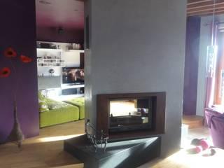 Maison à Saint Martin La Plaine Salon moderne par CAP-D Moderne