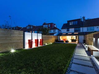Night time in the Garden GK Architects Ltd Garden Lighting