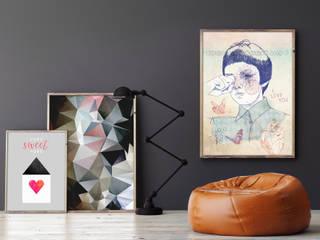 Kreative Wandgestaltung mit Wandbildern: modern  von Posterlounge,Modern