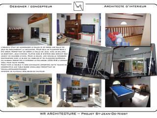 Rénovation du salon:  de style  par WR ARCHITECTURE