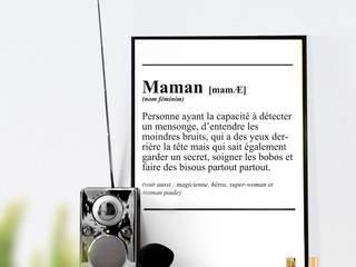 Définition d'une Maman:  de style  par RGB4YOU