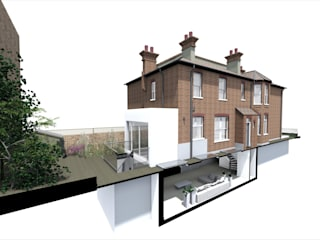 Oxford Gardens (3D Design) par GK Architects Ltd Moderne