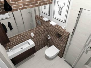 Projekt łazienki : styl , w kategorii Łazienka zaprojektowany przez Tomasz Korżyński Design