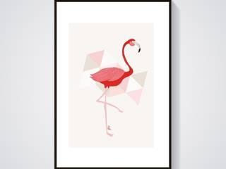 Flamant-Rose illustration - format A3:  de style  par Adel Fabric