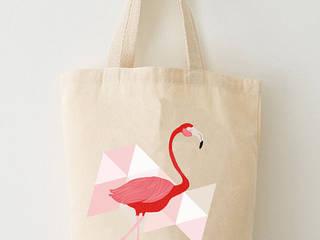 Tote bag impression flamant rose - Coton biologique:  de style  par Adel Fabric