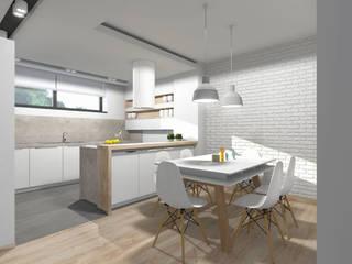 Projekt kuchni z jadalnią: styl , w kategorii Kuchnia zaprojektowany przez Tomasz Korżyński Design