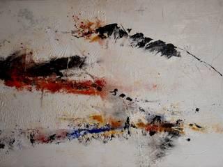 Acrylique, pigments soufflés sur toile par Atelier Arnaud Moderne