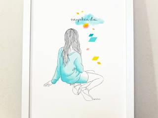 """Affiche illustrée """"Everywhere Else"""" par Akabé Paris:  de style  par Akabé"""