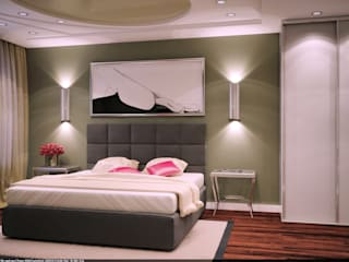 дизайнер Алина Куракова ห้องนอน
