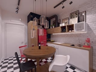 Industrial style kitchen by The Vibe Industrial