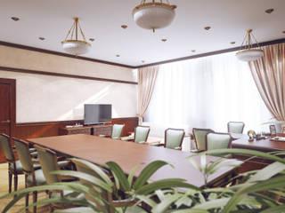 Oficinas y bibliotecas de estilo clásico de Студия дизайна и декора Алины Кураковой Clásico