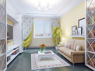 дизайнер Алина Куракова ห้องนั่งเล่น