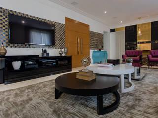 Detalhes sala de estar: Salas de estar  por Helen Granzote Arquitetura e Interiores