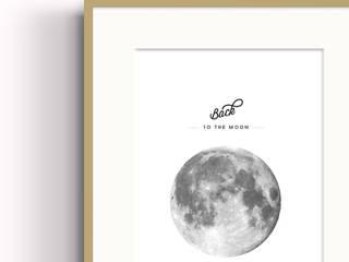 Affiche Back to the moon par Papier Machine Minimaliste