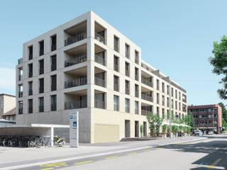 Neubau Eventkomplex und 21 Wohnungen, CH-Winterthur Moderne Veranstaltungsorte von Graf Biscioni Architekten AG Modern