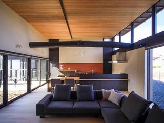 アルプスを臨む家 カントリーデザインの リビング の Egawa Architectural Studio カントリー