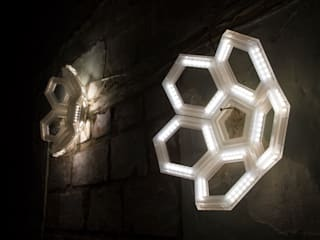 ​C5 wall direct light / C5 wall indirect light- Fullerene collection - Davide Montanaro design di kriladesign srl Minimalista