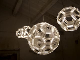 C60 ceiling - Fullerene collection - Davide Montanaro design: Paesaggio d'interni in stile  di kriladesign srl