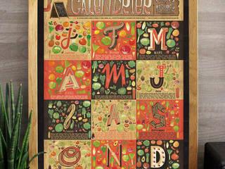 Affiche - Calendrier des fruits et légumes de saison:  de style  par claire-sophie lozia