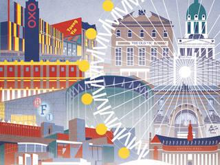 'Southbank London' Art Print:  Kunst  von homify