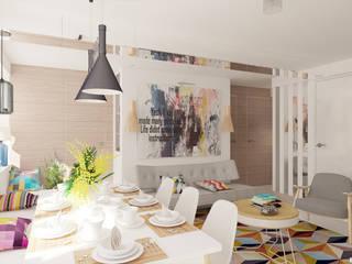 Квартира в Ломоносове Гостиная в скандинавском стиле от Architectured - мастерская Маргариты Рассказовой Скандинавский
