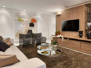 APARTAMENTO SANTO AGOSTINHO Salas de estar modernas por Cícera Gontijo Moderno