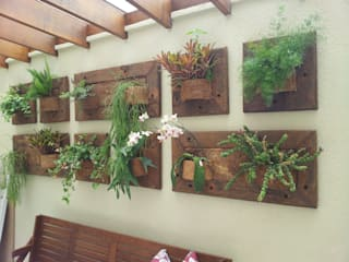 Rustic style conservatory by A Varanda Floricultura e Paisagismo Rustic