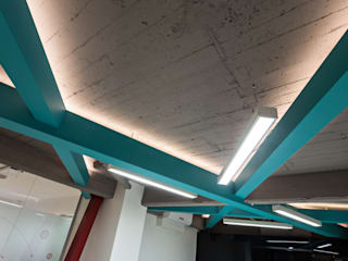 Estudio Sespede Arquitectos Office spaces & stores Metal Turquoise