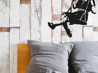 BANKSY GIRL ON A SWING Streetart Wandtattoo Ausgefallene Schlafzimmer von Urban ART Berlin Ausgefallen