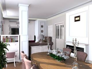 Дизайн проект квартиры: Гостиная в . Автор – 3designik, Модерн