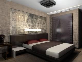 Дизайн проект квартиры: Спальни в . Автор – 3designik, Минимализм