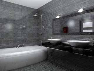 Дизайн проект квартиры: Ванные комнаты в . Автор – 3designik, Минимализм