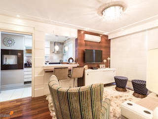 Camila Chalon Arquitetura Classic style living room
