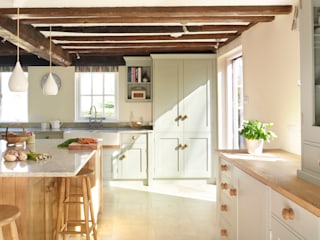 Painted and Oak Rencraft Cuisine rurale Bois Blanc
