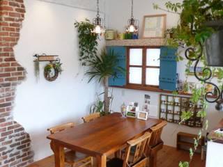 天然しっくいの爽やかなショールーム オリジナルな商業空間 の 有限会社 八幡工業 ナチュラワイズ オリジナル
