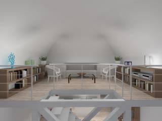 Casa LC - proposta Soggiorno in stile rustico di STUDIOFLAT Rustico