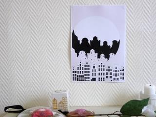 Affiche A4 ville:  de style  par MAGIcarterie