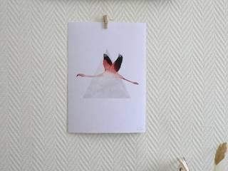 Affiche flamant rose:  de style  par MAGIcarterie