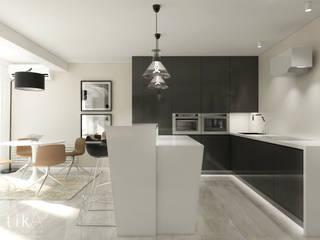 Wnętrze apartamentu, Kęty Nowoczesna kuchnia od TIKA DESIGN Nowoczesny