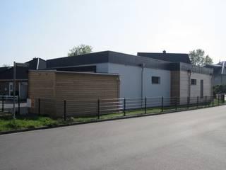 Musterhaus im Passivhaus-Standard: industriale Häuser von passivbau Blohm Wohn- und Gewerbebau GmbH&Co.KG